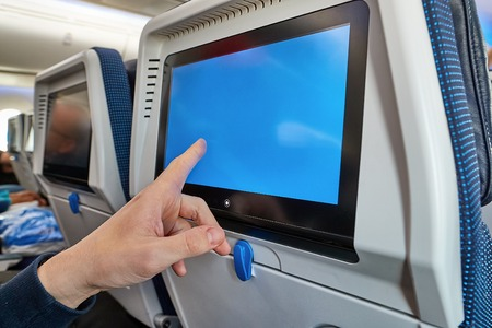 Plane infotainment screen