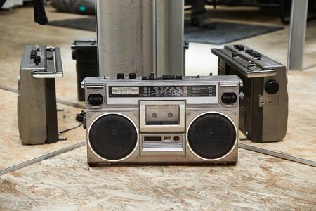 Old cassette music player, ghetto blaster