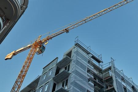 Urban Building Construction With Crane Stockfoto - 131578406