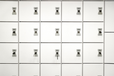 Safety Lockers Wall Stok Fotoğraf