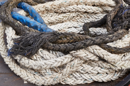 Rope in a pile Imagens