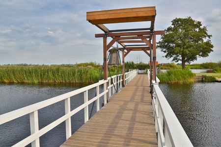 Small drawbridge bridge in the Netherlands Reklamní fotografie