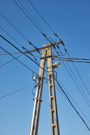 Electric line column
