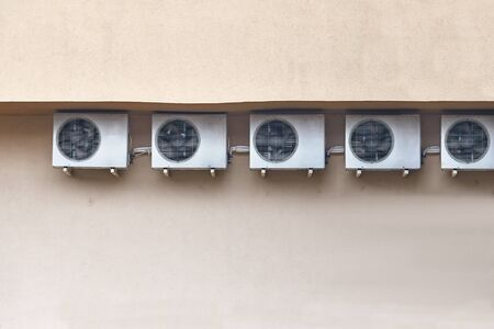 Many Air-conditioner Exterior Units Banque d'images