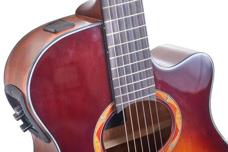 Acoustic guitar, high quality musical instrument Reklamní fotografie