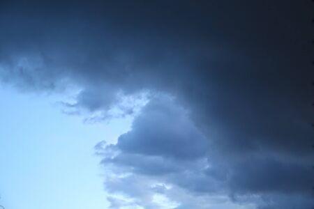 Dark clouds in the stomy sky