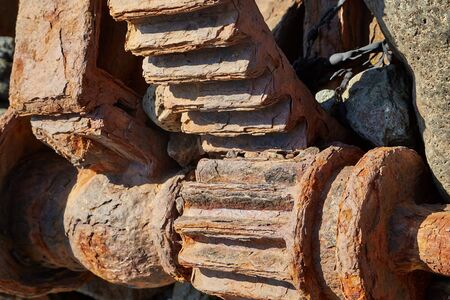 Old Rusty Cogwheels Imagens