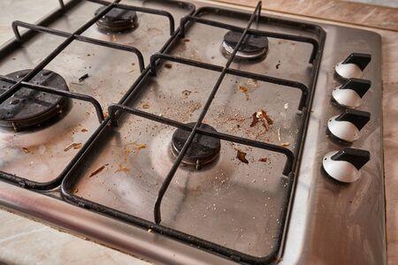 Dirty Kitchen Stove Reklamní fotografie