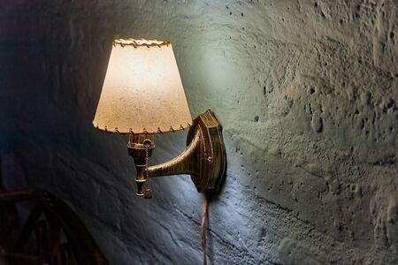 Lamp in a dim room