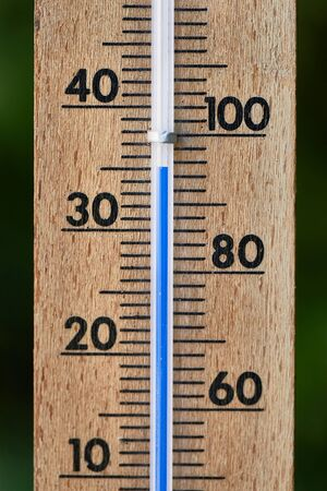 Thermometer in summer Фото со стока