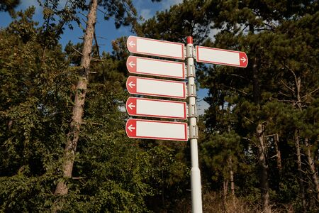 Direction signs in a park