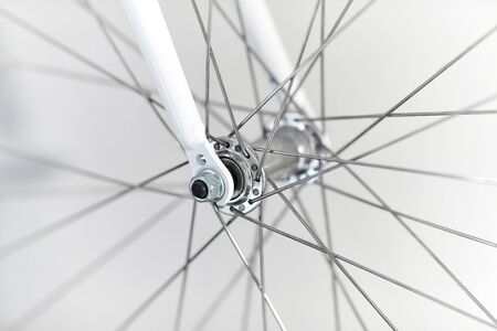 Bicycle detail in a garage