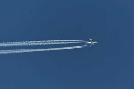 Airliner at cruising altitude