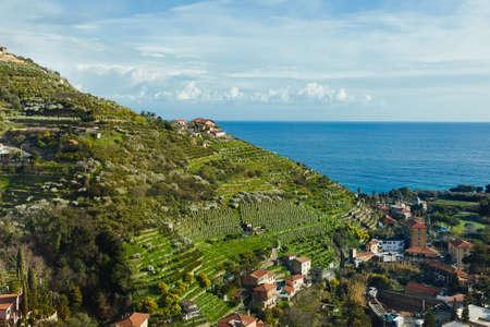 Mediterranean coastal landscape