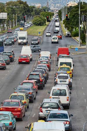 Traffic on on urban rooad