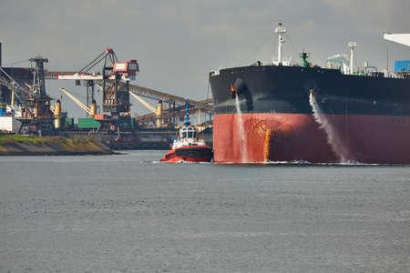 Oil Tanker Ship in Rotterdam