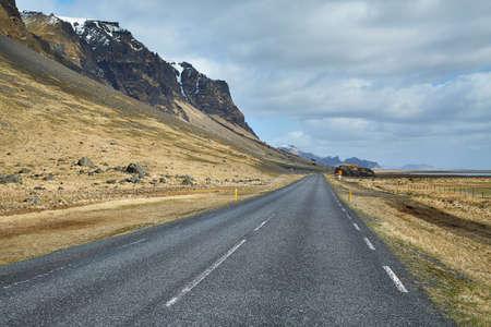 Iceland road trip landscape views Standard-Bild