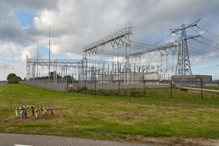 Electric lines trasformer station