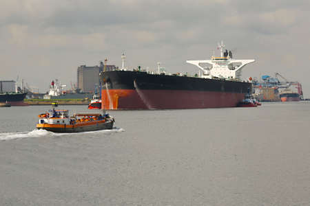 Oil Tanker Ship in Rotterdam