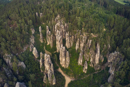 Majestic Rocky Landscape From The Air Фото со стока