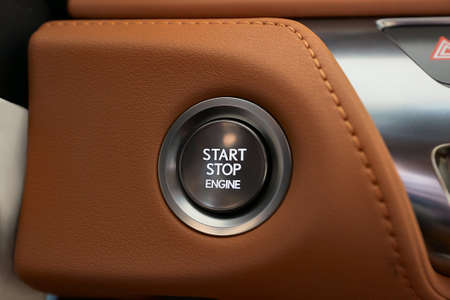 Engine Start Button with leather cover
