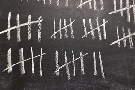 Chalk tally chart counting