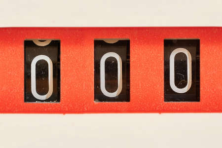 3 digit mechanical counter showing