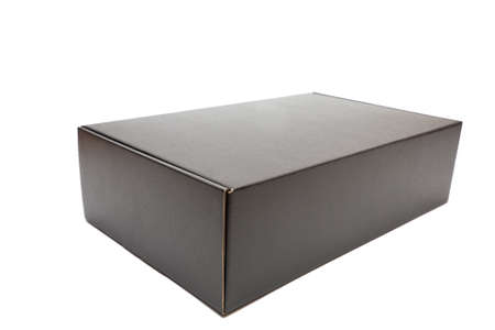 Unopened Black Cardboard Box