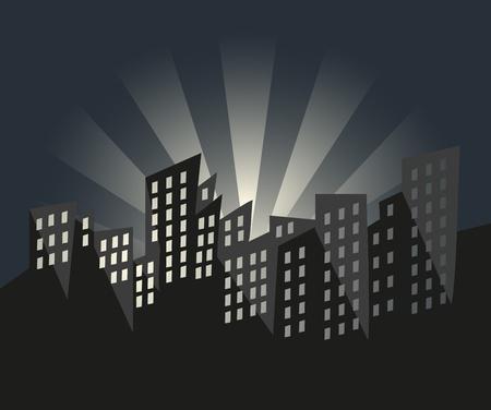 City of Sunrise Vector