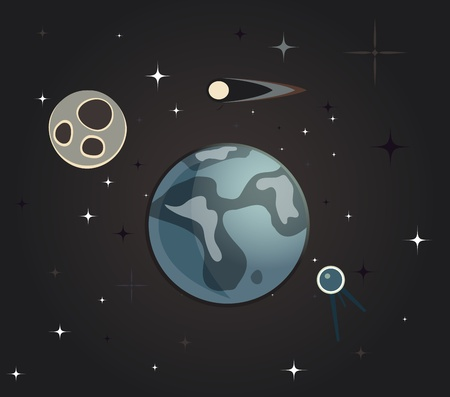 Vintage Earth Vector