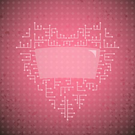 abstract heart, background Vector