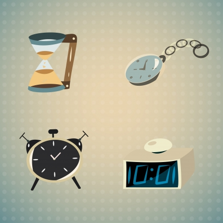 Clock and alarm Vector