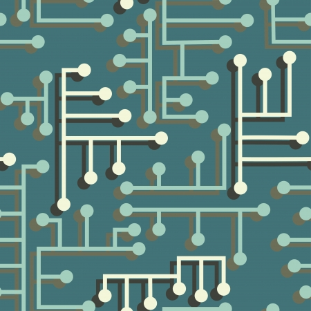 kelly green: electronic circuit seamless Illustration