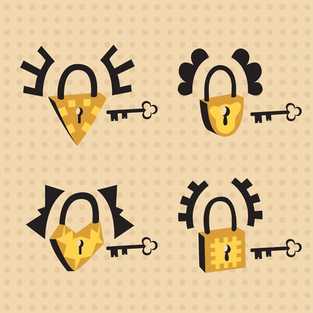 locks with keys Vector
