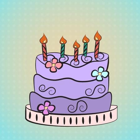 purple cake Vector