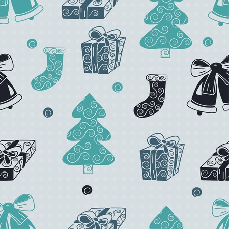 wrapping animal: Christmas seamless