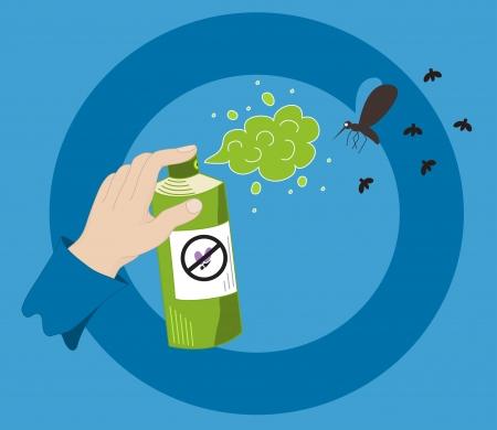 malaria: Mosquito spray