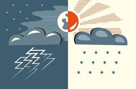 weather, day   night Vector