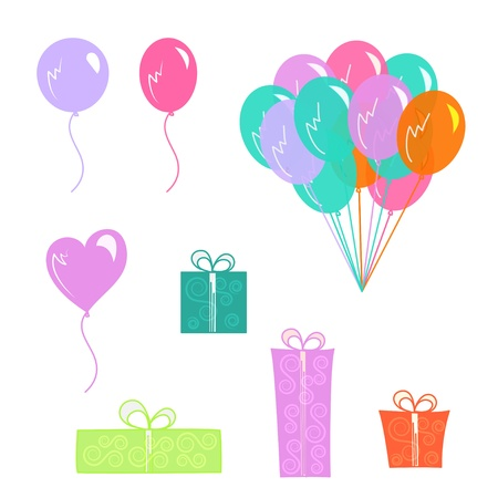 colored balloons: balloons Illustration