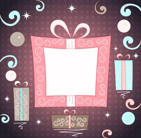 christmas gifts background Vector