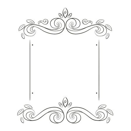 grunge flowers frame silhouette Stock Vector - 15280197