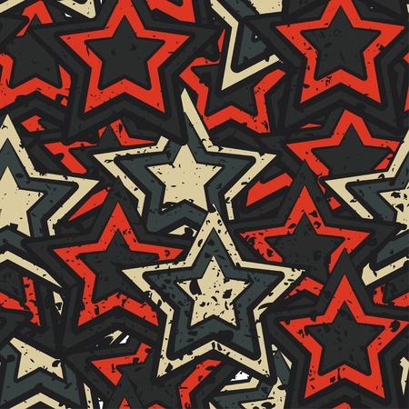 grunge stars seamless Stock Vector - 15280232