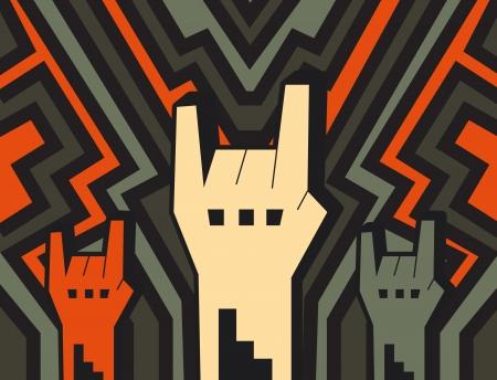 punk rock: rock hands