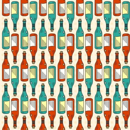 night club: seamless texture wine Illustration