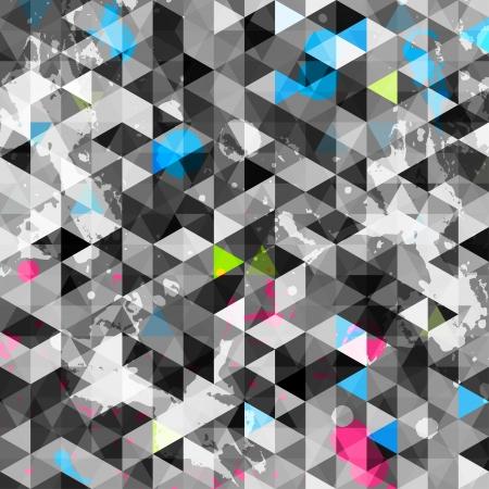 삼각형: 초록 삼각형의 원활한 일러스트