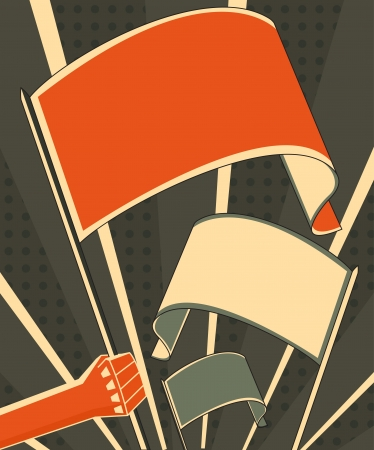 soviet: hand holding a flag