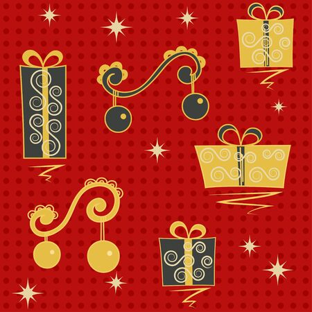 red christmas seamless Vector