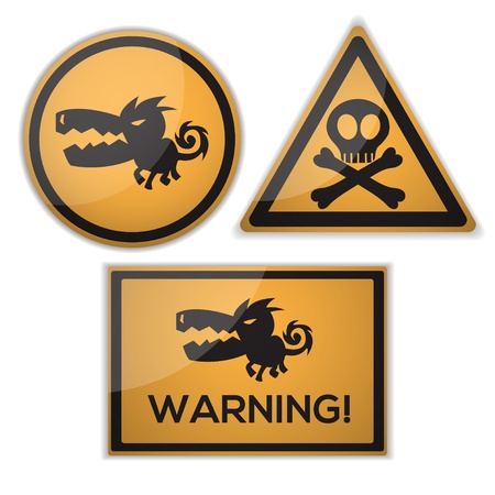 warning signs Stock Vector - 15445096