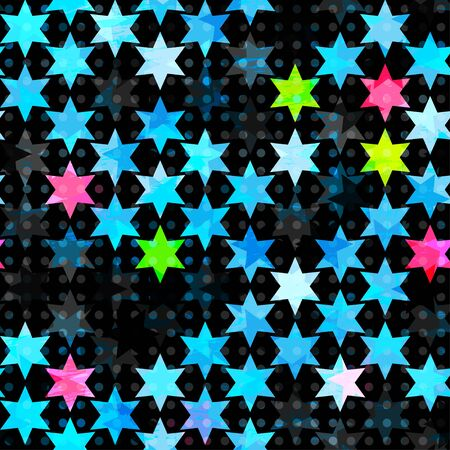 abstract blue grunge star seamless Stock Vector - 16665093