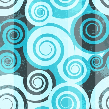 Abstract blue spiral seamless Vector